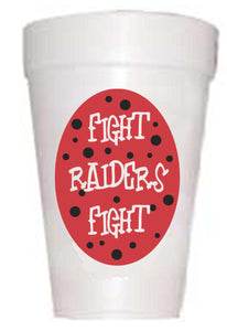 Texas Tech Raiders Fight Styrofoam Cups - Preppy Mama
