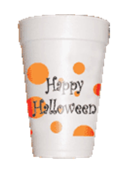 Polka Dot Happy Halloween Party Cups-Preppy mama