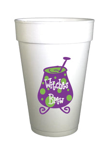 Witches Brew Halloween Party Cups-Preppy Mama