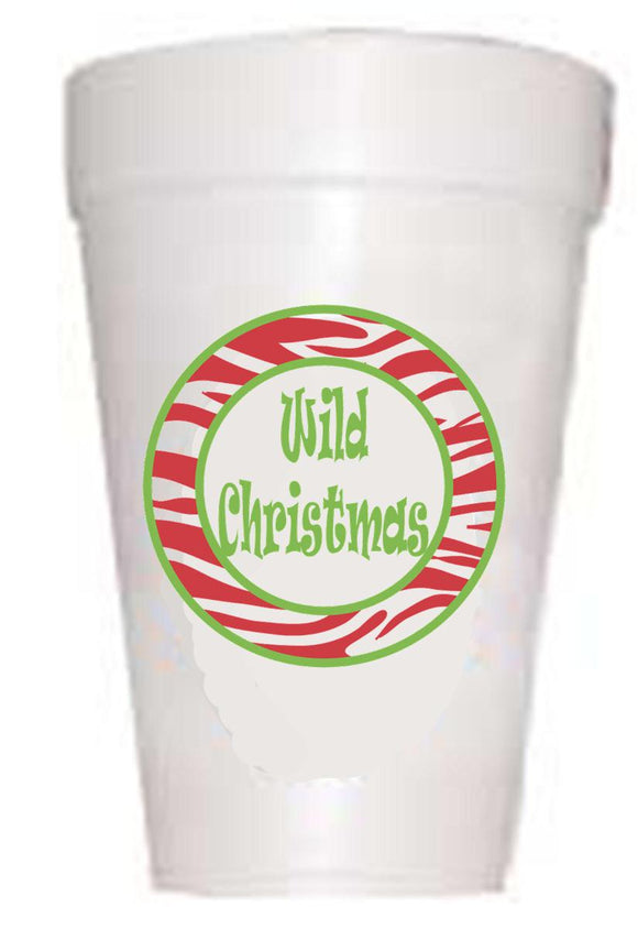 Wild Christmas Styrofoam Christmas Cups, Christmas Cups, Preppy Cups