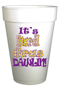 Mardi Gras Dawlin Styrofoam Party Cups