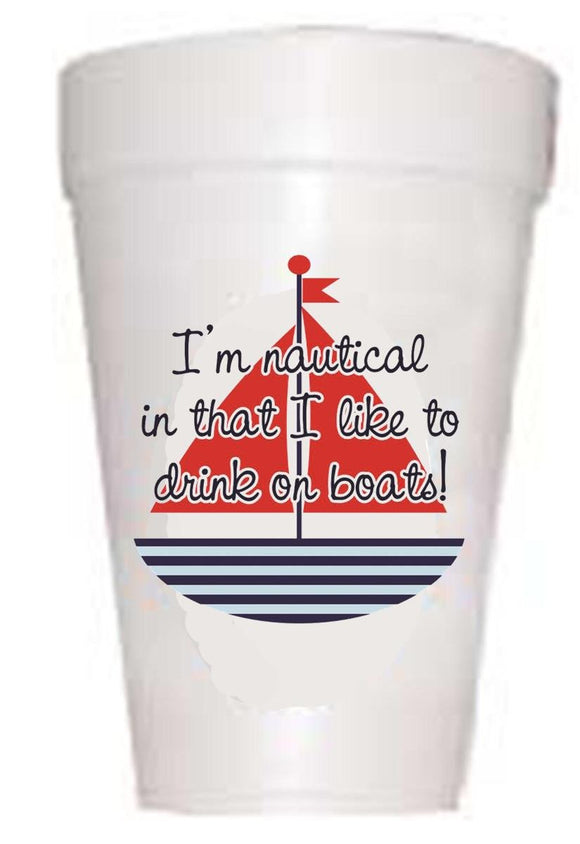 Drinking on Boats' Cups - Preppy Mama