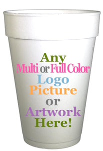 Any Personalized Wedding  Cups,Personalized Bridal Shower Cups,Personalizied Foam Cups,Engagement Cups,Logo Cups, Custom Cups - Preppy Mama
