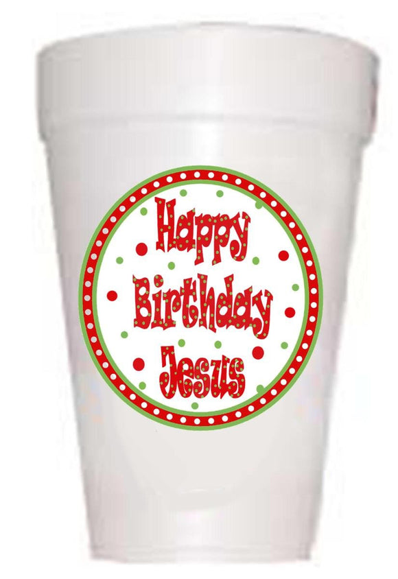 Happy Birthday Jesus Cups