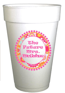 Future Mrs. Personalized Engagement Cups-Custom Bachelorette Party Cups-Preppy Mama