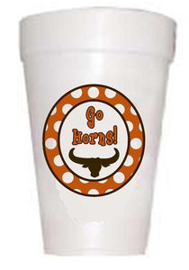 Go Horns texas cups