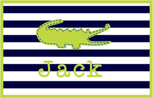 Preppy Gator Personalized Placemat - Preppy Mama