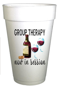 Group Therapy Now in Session Cocktail Cups