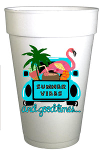 Summer Vibes and Good Times Pool and Beach Cups