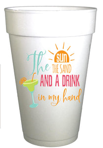 Sun and Sand Margarita Beach Cups