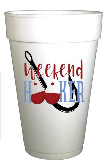 Weekend Hooker Styrofoam Lake Fishing Cups