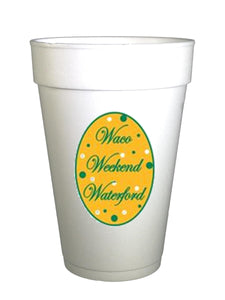 Baylor Waco Weekend Waterford Styrofoam Cups
