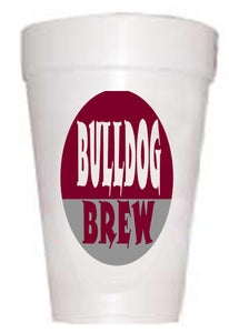 MS Bulldog Brew Styrofoam Cups