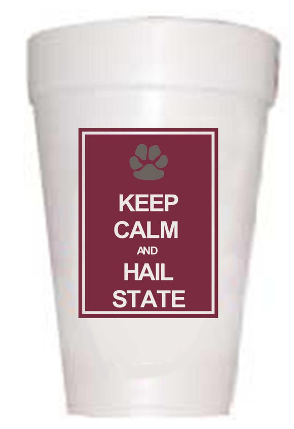 MSU Bulldogs Keep Calm Styrofoam Cups