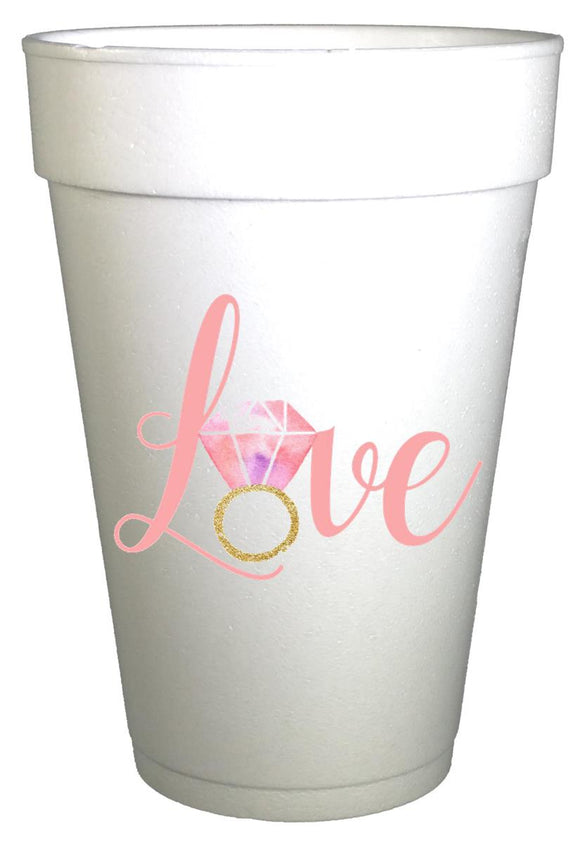Love Ring Wedding Engagement Party Cups