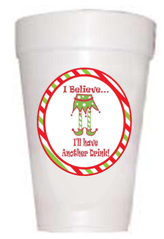 Christmas 'I Believe' Cups - Preppy Mama