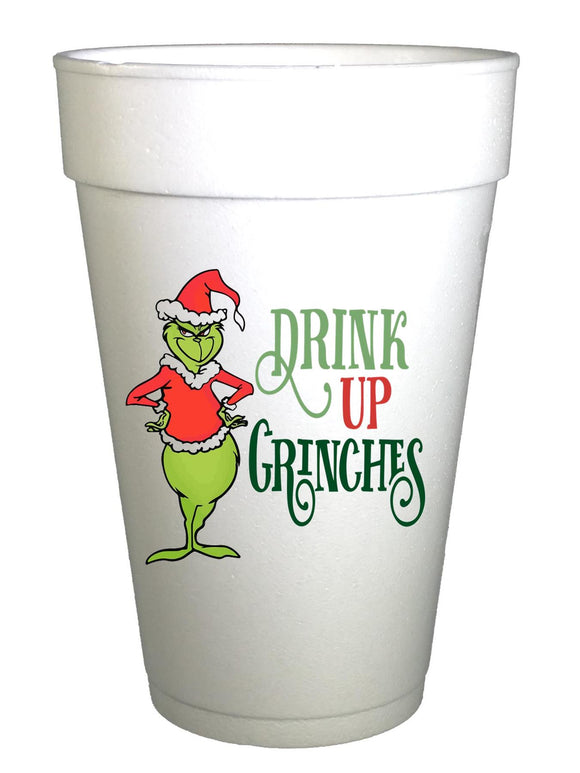Drink Up Grinches Christmas Cups - Preppy Mama