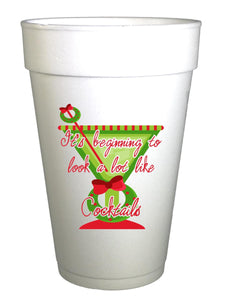 Looks Like Cocktails Christmas Cups