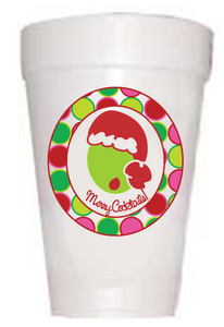 'Merry Cocktails' Christmas Cups - Preppy Mama