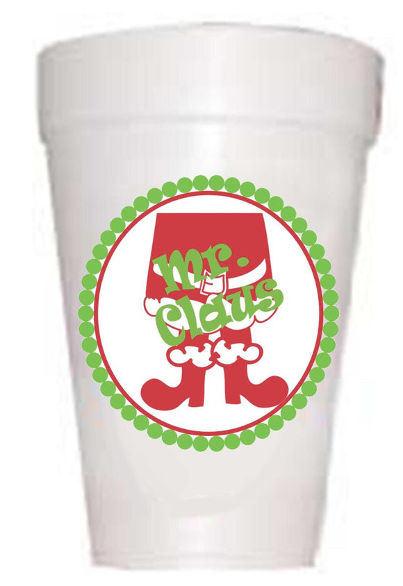 'Mr. Claus' Christmas Cups - Preppy Mama