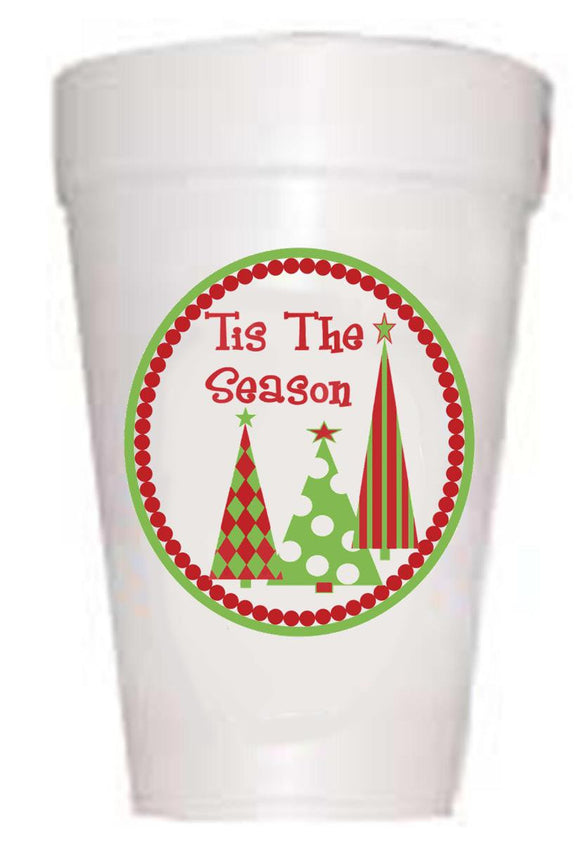 'Tis the Season' Christmas Tree Cups - Preppy Mama