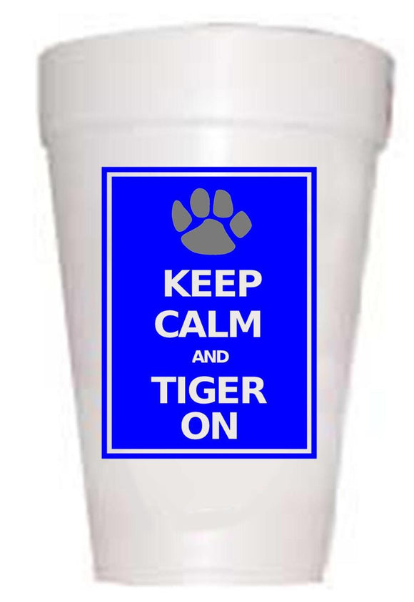 Carolina Keep Calm Styrofoam Cups - Preppy Mama