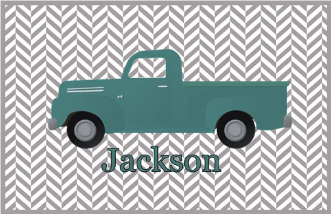 Green Pickup Personalized Placemat - Preppy Mama