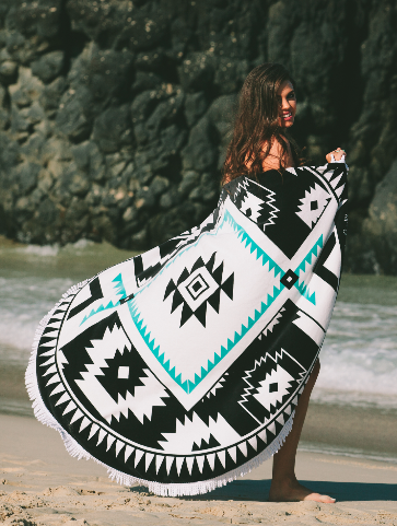 The Apache - Luxe Round Beach Towel