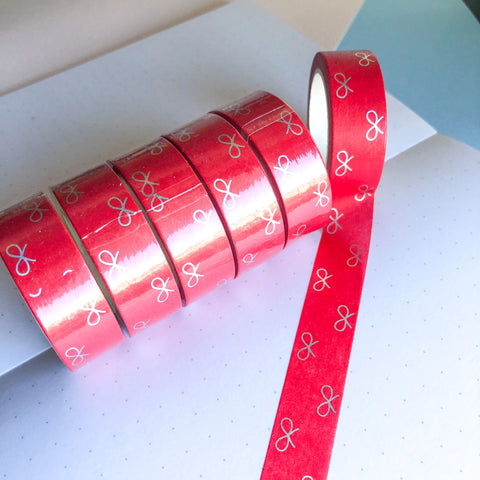 Washi Tape - Magenta Red - Holographic Foil