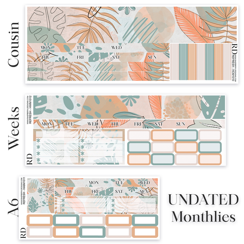 HOBONICHI - UNDATED Monthly Kits (Cousin, Weeks, A6) - Refresh