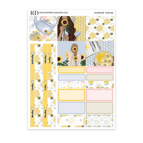 Wonderland222 B6 Weekly - Sunshine Mini Kit