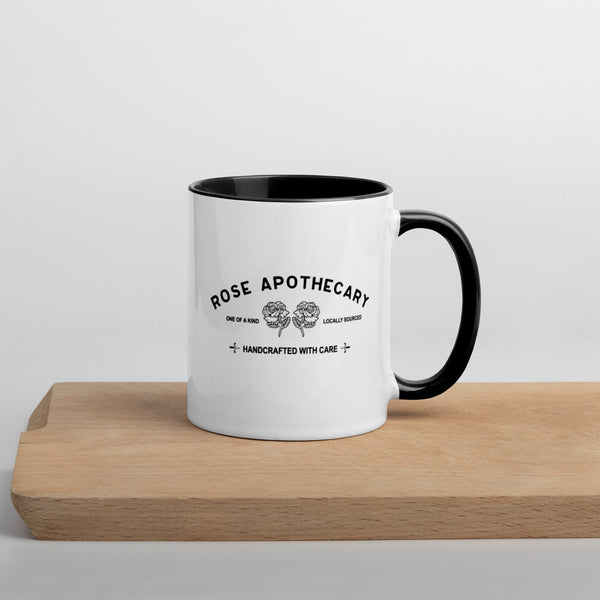 Rose Apothecary Mug with Color Inside