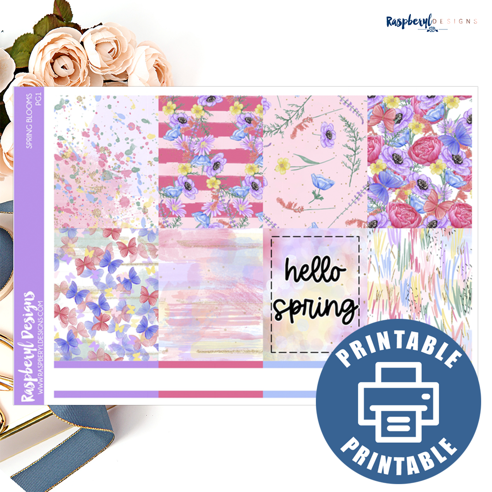 PRINTABLE Spring Blooms Standard Vertical Mini Kit