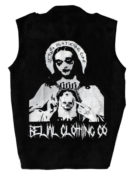 FUCK Jesus Patch Occult Satanic Belial Clothing