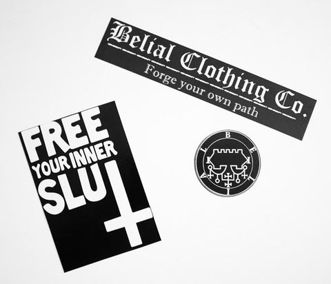 Stickers Combo Occult Satanic Belial Clothing