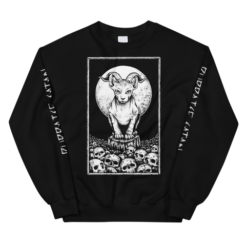 Hell Cat Sweatshirt (Purraise Satan Sleeves) Version