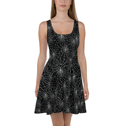 Black Widow Skater Dress