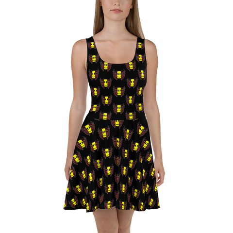 Smile Inside Demons Skater Dress [LTD]