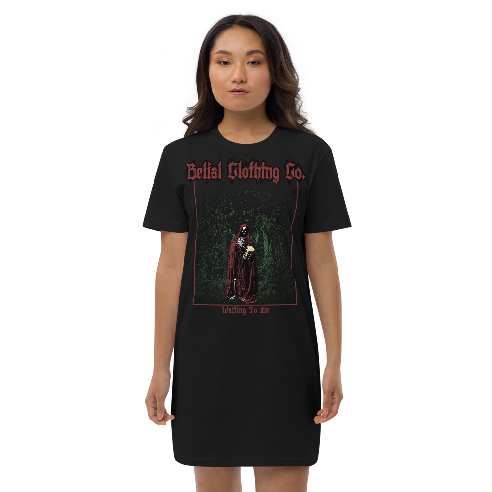 Waiting To Die Organic cotton t-shirt dress