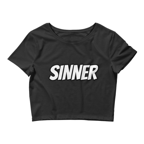 SINNER Women's Crop Tee
