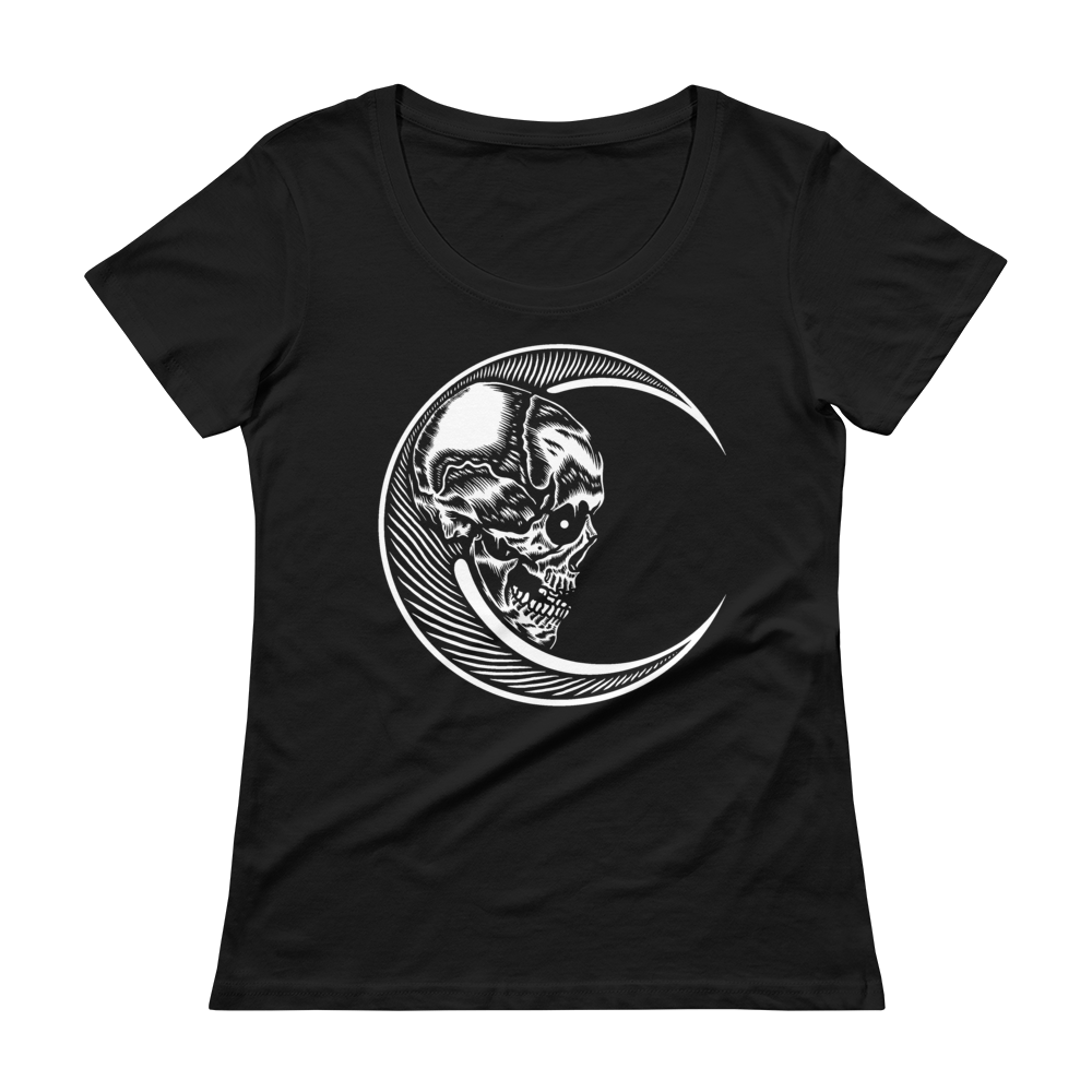 Moon Skull Ladies' Scoopneck T-Shirt