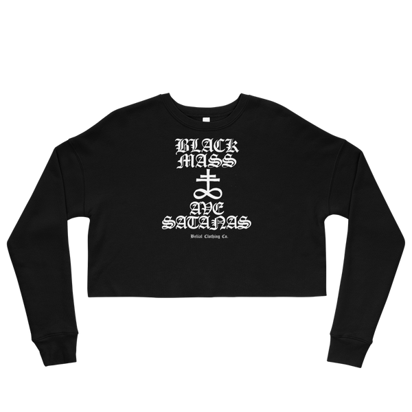 Black Mass Crop Sweatshirt