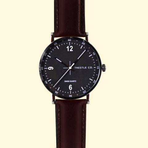 The McGuire - Dark Brown Leather