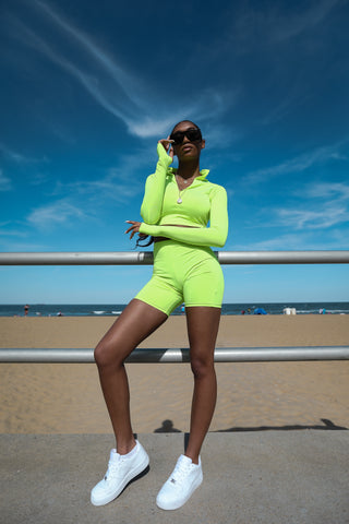Neon Green Sport Suit Set