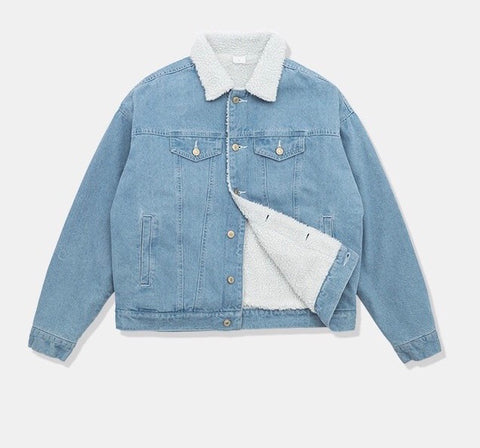 Shwim Unisex Sherpa Denim Trucker Jacket