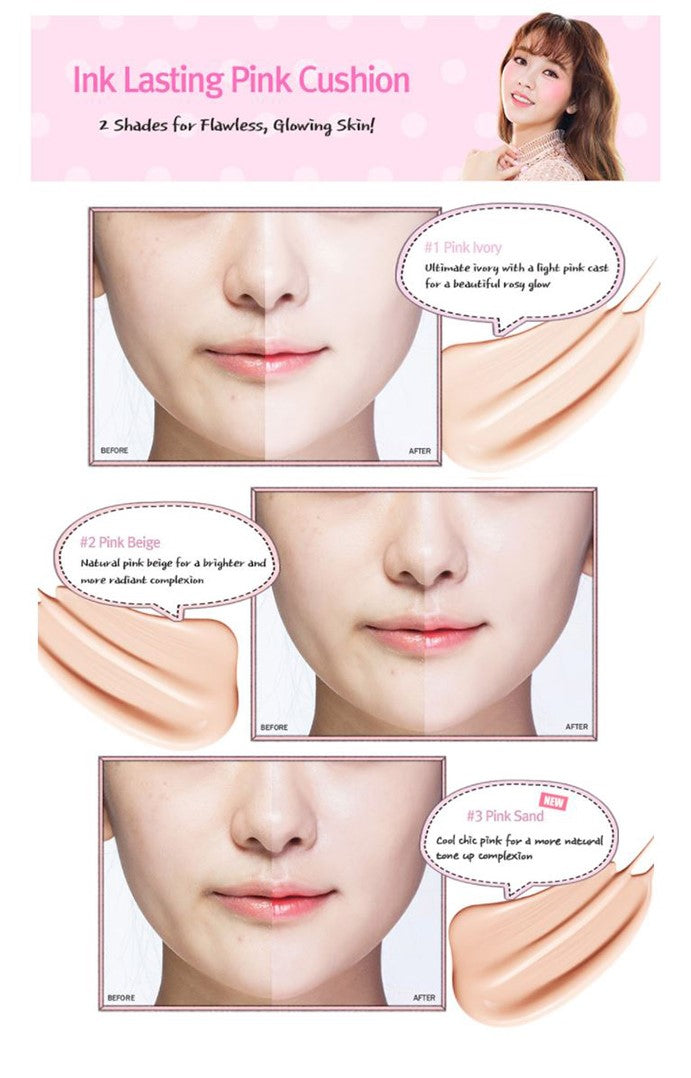 Peri Pera Inklasting Pink Cushion SPECIAL OFFER  (3 Shades)