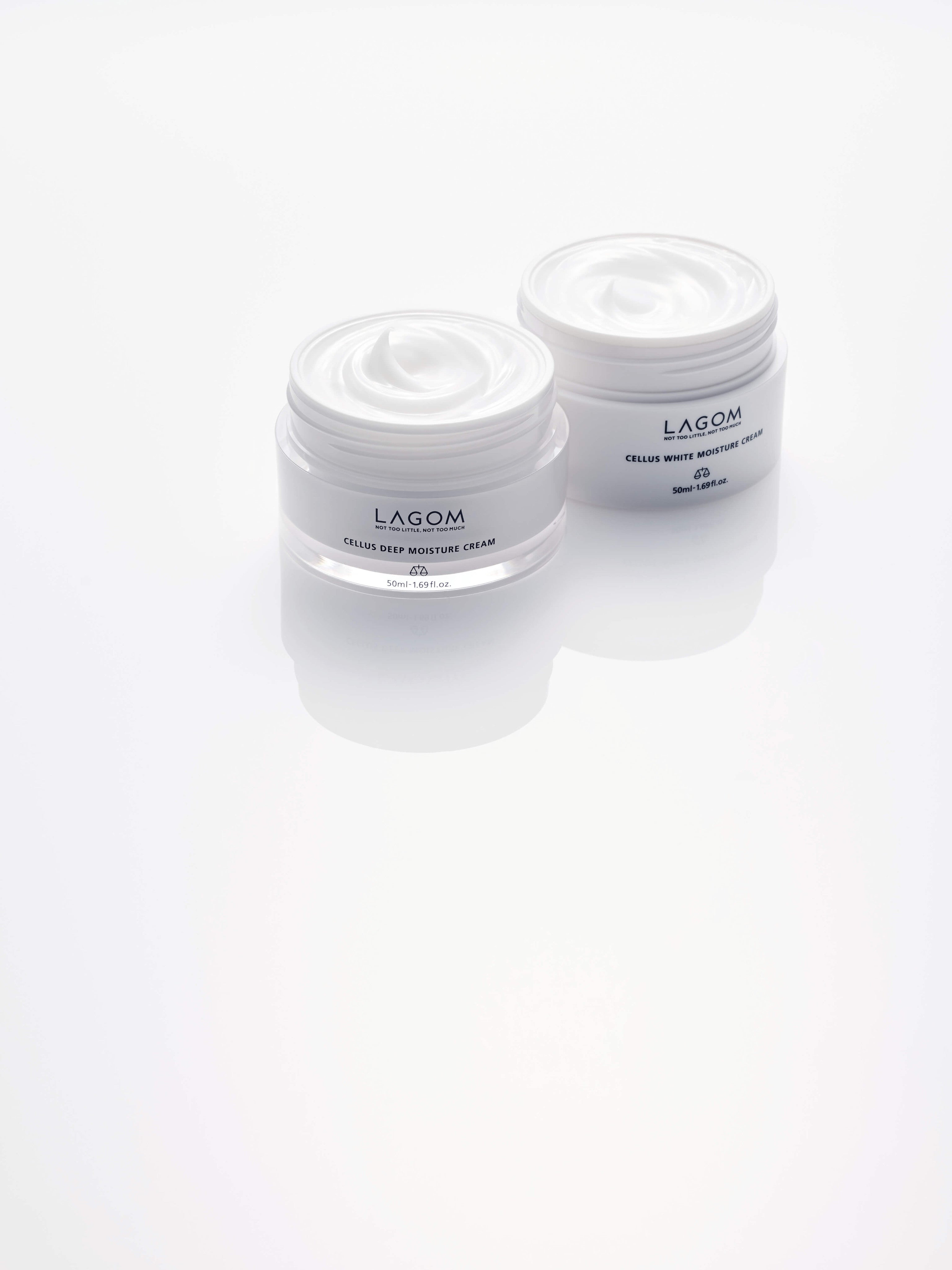 Lagom White Moisture Cream and Deep Moisture Cream at Franki and Seoul