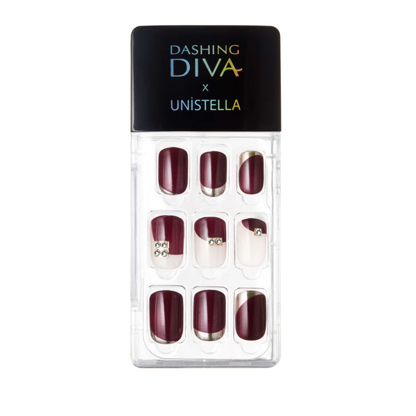 DASHING DIVA MAGIC PRESS GEL NAILS: UNISTELLA LIMITED EDITION - CHARMING ROUGE