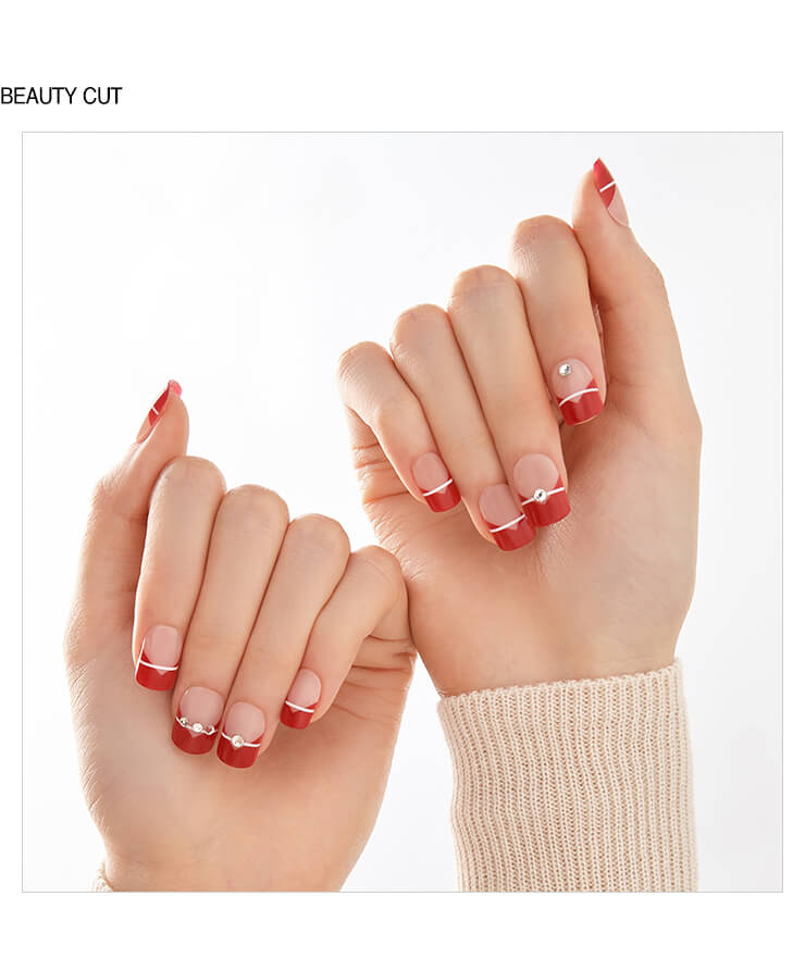 MAGIC PRESS GEL NAILS: RED BOUQUET - Franki & Seoul