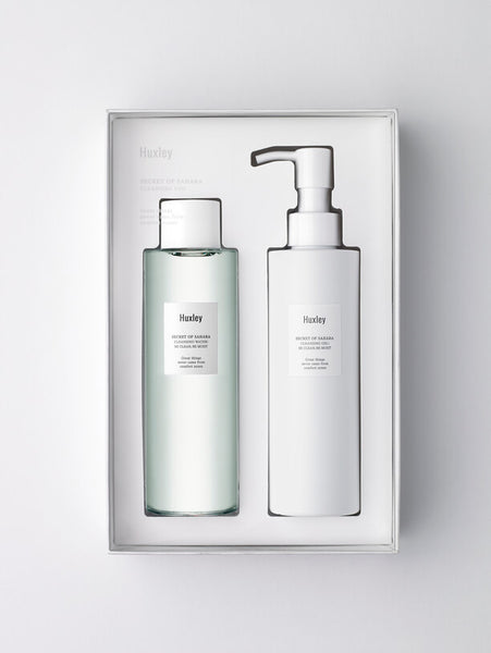 HUXLEY cleansing duo be clean be moist cleansing water gel